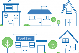 whiteboard animation of a foodbank
